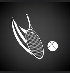 tennis racket hitting a ball icon vector image