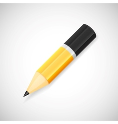 Yellow pencil isolated on white background vector