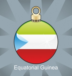 Equatorial guinea flag on bulb vector