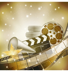 cinema film background vector image