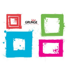 Grunge square collection ink vector