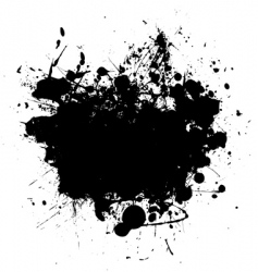 Splat black copyspace vector