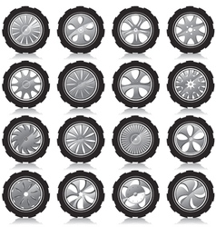 Alloy wheel black vector