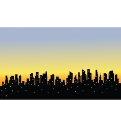 City silhouette and light vector image