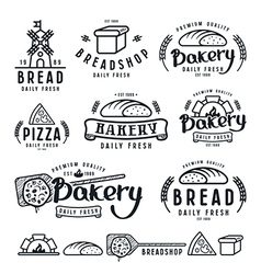 Set of bakery labels badges and design elements vector