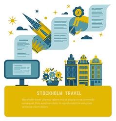 Stockholm travel poster vector image