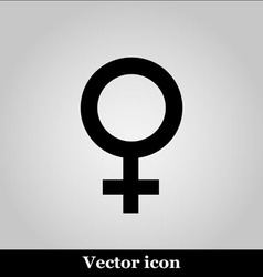 Woman icon on grey background vector