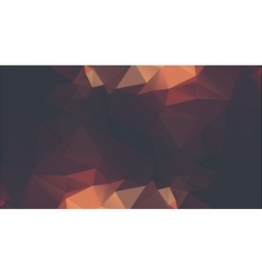 Abstract golden background consisting of triangles vector