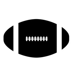 american football ball the black color icon vector image