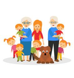 big happy family vector image vector image