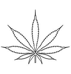 Cannabis marijuana leaf black color path icon vector