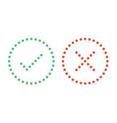 dots check mark icons vector image