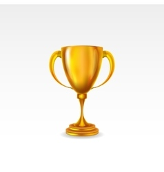 golden award trophy isolated on white background vector image vector image