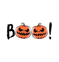 Halloween sound boo vector