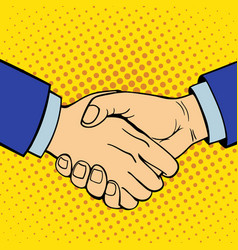 Hand showing handshake deaf-mute gesture human arm vector