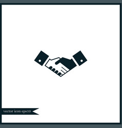 handshake icon simple vector image