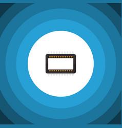 isolated unit flat icon mainframe element vector image