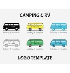 Outdoor Activity Travel Logo Vintage Labels design vector image