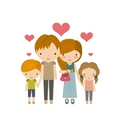 Parents and kids icon Family and cute people vector image