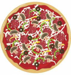 pizza whole vector image vector image