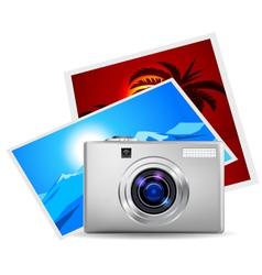 Realistic digital camera vector image vector image