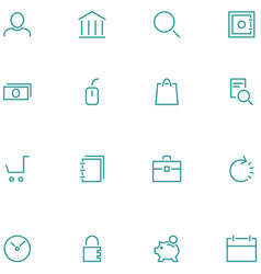 Set icons material design style vector