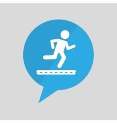 Sign running jogging person pin design vector