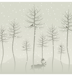 snow vector image vector image