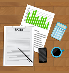 Tax analysis and statistics vector