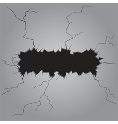 Template hole in the wall vector image
