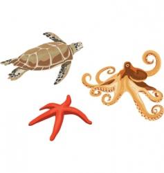 underwater creatures vector image vector image