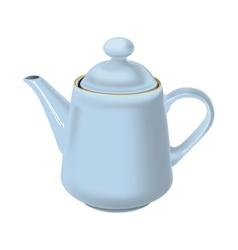 White teapot vector image