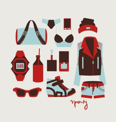 woman clothes and accessories vector image