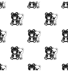 Bears icon in black style isolated on white vector image