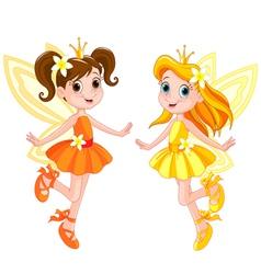 Two cute fairies vector image