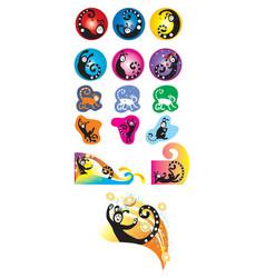 cartoon funny creature vector image