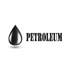 petroleum industry horizontal banner with oil vector image