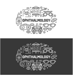 Ophthalmology medical banner  eyes vector