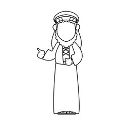 wise king manger character bible image outline vector image