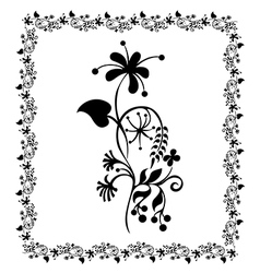 Flower pattern frame floral vector