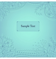 Blue background with frame vector