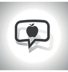 Curved apple message icon vector