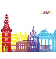Geneva skyline pop vector image