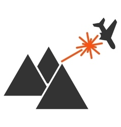Piramides strike airplane icon vector