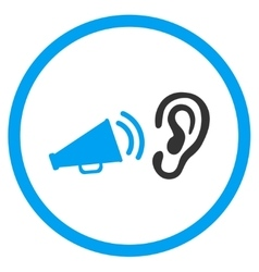 Listen advertisement rounded icon vector