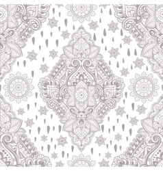 Beautiful ethnic floral paisley seamless ornament vector
