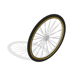 Bicycle whee icon isometric 3d style vector