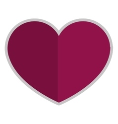 purple heart icon vector image