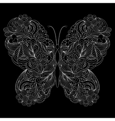 abstract butterfly on black background vector image vector image