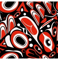 Abstract red background native north american vector